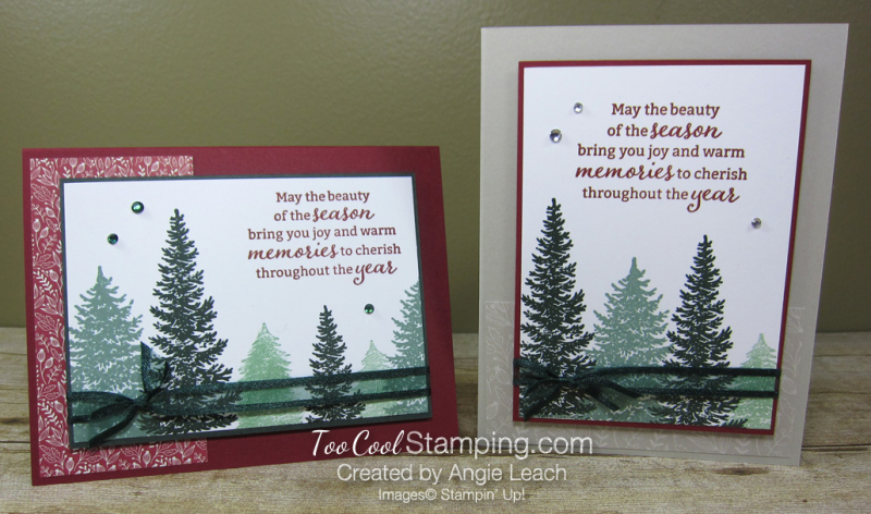 Evergreen elegance stamped forest - two cool