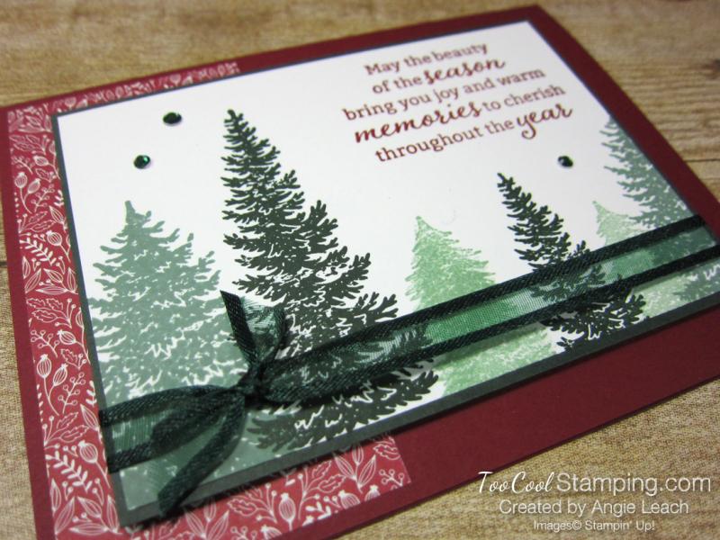 Evergreen elegance stamped forest - cherry 2