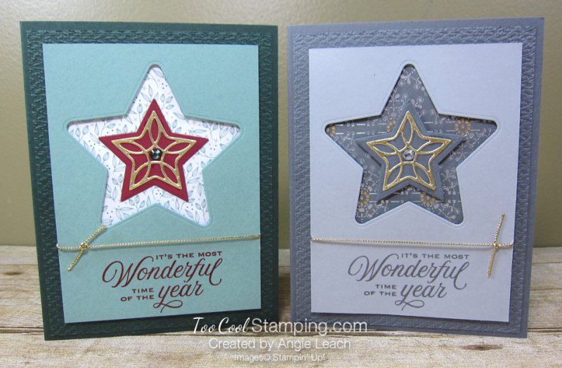 Tidings & trimmings recessed star - two cool