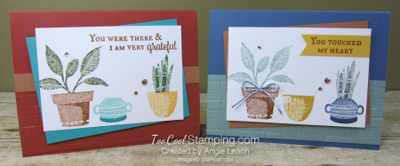 Bloom where planted stamped trio - two cool