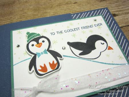 Penguin Place snow scene cards - misty 2