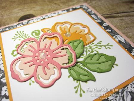 Shaded Summer die-cut flowers - petal pinks 3