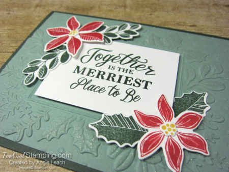 Merriest Moments embossed frame - succulent h2