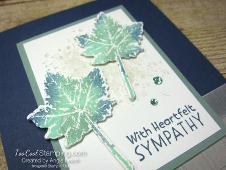 Gorgeous leaves sponged leaves - navy 2