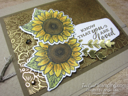 Celebrate Sunflowers You Are Loved - crumb cake 2