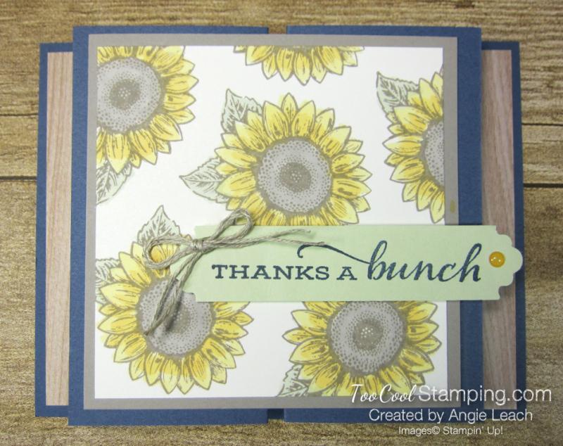 Celebrate Sunflowers Double Z Gate Fold - Misty 1