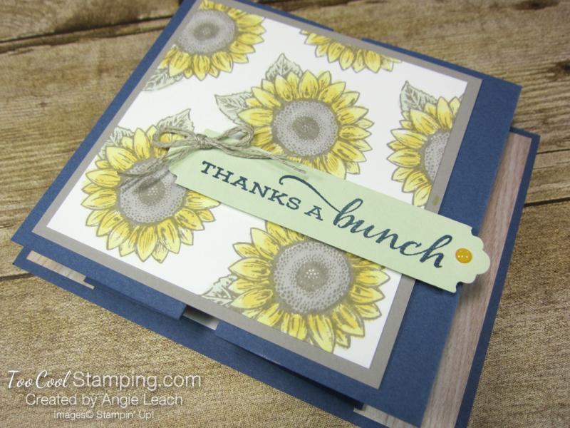 Celebrate Sunflowers Double Z Gate Fold - Misty 3