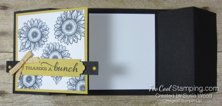 Celebrate Sunflowers Double Z Gate Fold - yellow 2