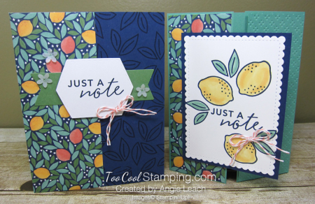 Simply citrus navy lemons cards - two cool