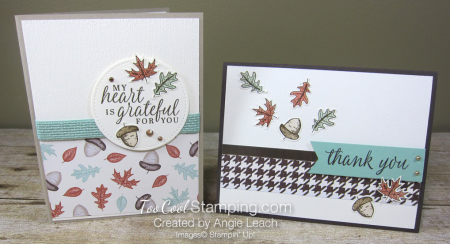 Beautiful autumn falling leaves cards - two cool