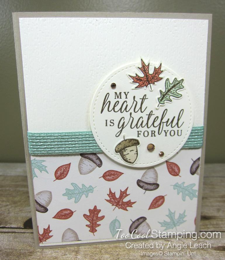 Beautiful autumn falling leaves - grateful 1