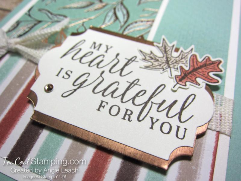Beautiful autumn grateful heart - mint 2