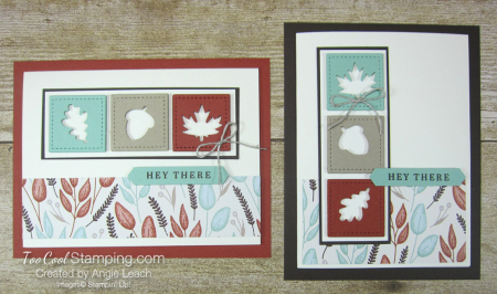 Beautiful autumn recessed window trio - two cool