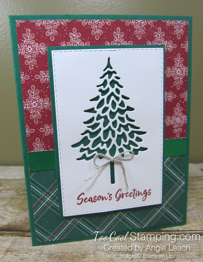 In The Pines recessed pine - tis the season plaid