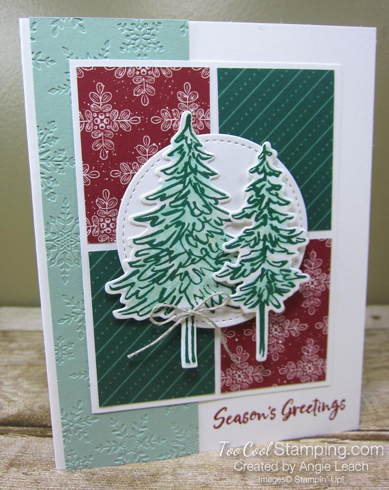 In The Pines four block - white snowflakes