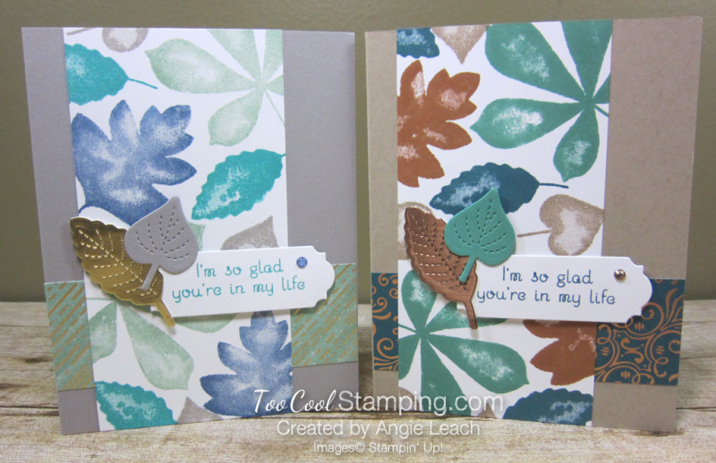 Love of leaves stamped panel - two cool 3