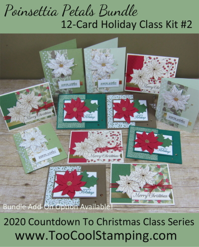 Poinsettia Petals 12-Card Class Banner 2