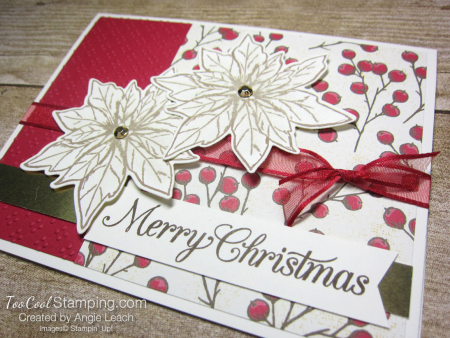 Poinsettia Petals Merry Christmas cards - red 2