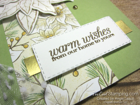 Poinsettia Petals Warm Wishes cards - pear petals 3