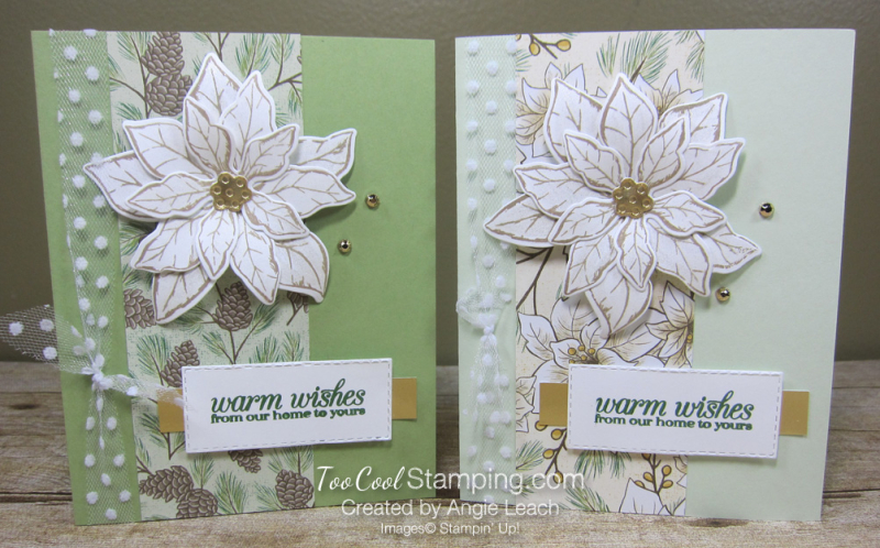 Poinsettia Petals Warm Wishes cards - two cool 2