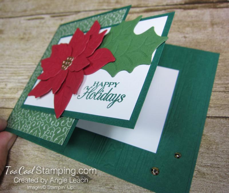 Poinsettia Petals Happy Holidays cards - shaded 3