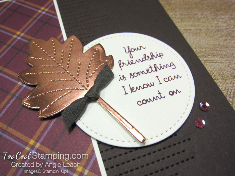 Love of leaves stitched lines - friendship 2