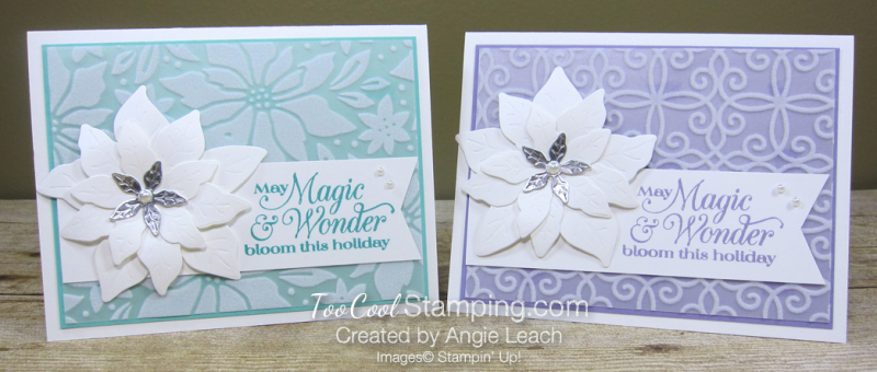 Pretty Poinsettia Plush Overlay cards - two cool