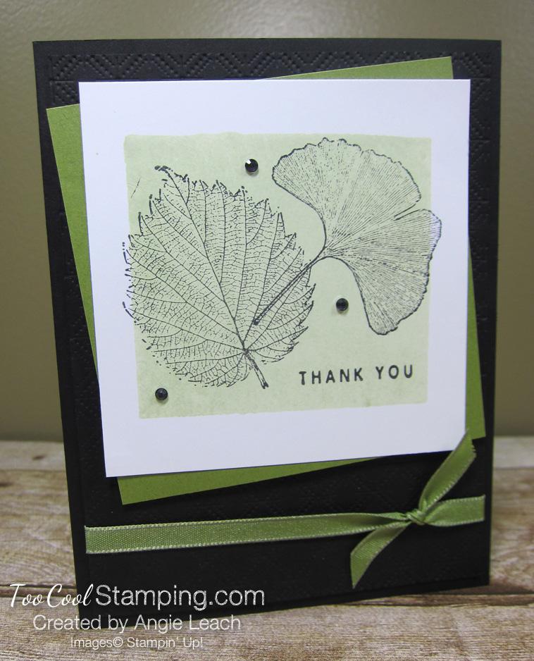 Loyal Leaves Color Block Background - old olive