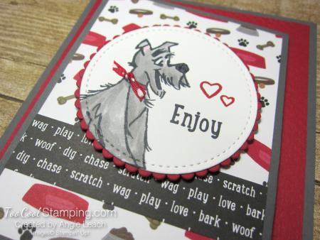 Playful pets z-fold gift card holders - dog 2