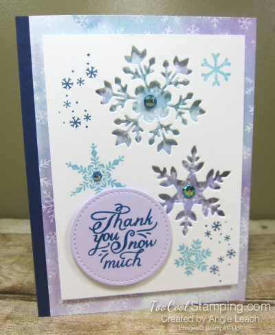 Snowflake Wishes Recessed Window - navy