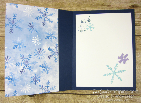 Snowflake Wishes Recessed Window - navy 3