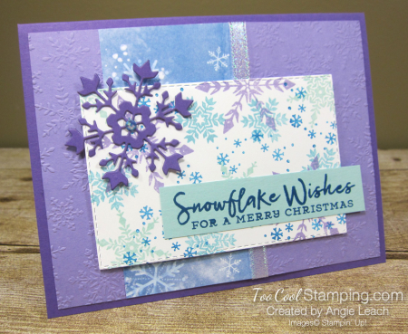 Snowflake Wishes For a Merry Christmas - grape 2