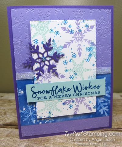 Snowflake Wishes For a Merry Christmas - grape 1