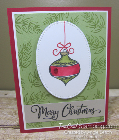 Tag Buffet Merry Christmas Ornament - red