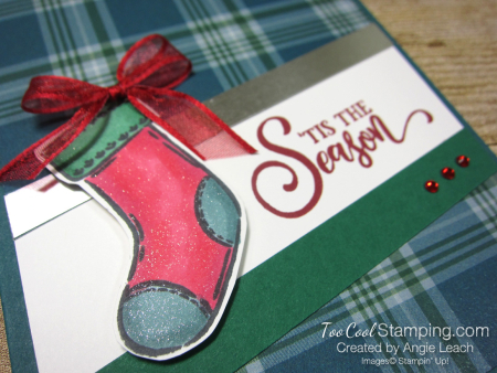 Tag Buffet Merry Christmas Stocking - peacock 2