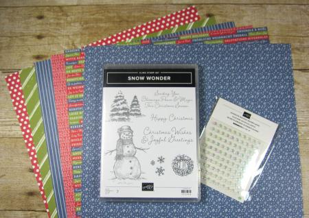 Snow wonder 12-card kit contents