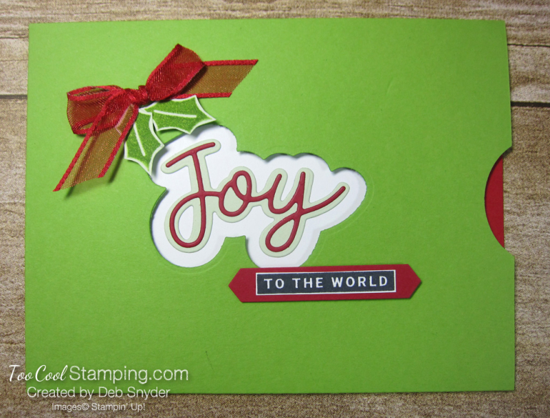 Peace and joy pocket card - 1