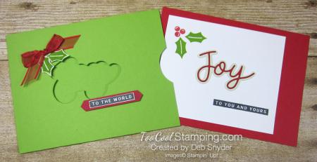 Peace and joy pocket card - 2
