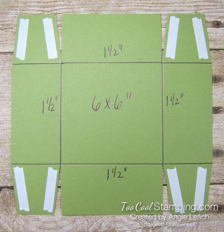 Poinsettia place box - template