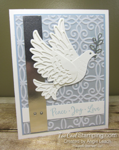 Dove of hope diecut dove - seaside spray