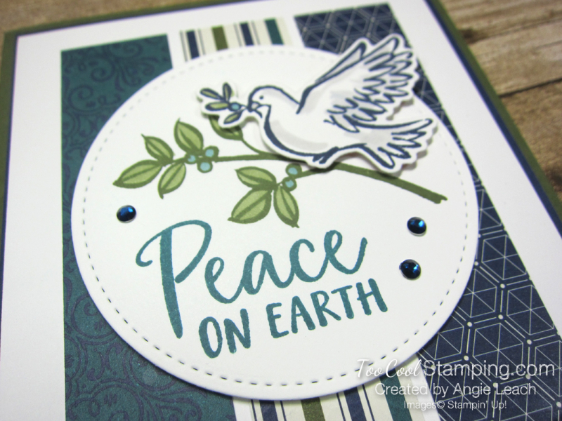 Dove of hope peace on earth strips - blues 3