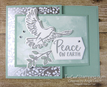 Dove of hope joy fold - mint
