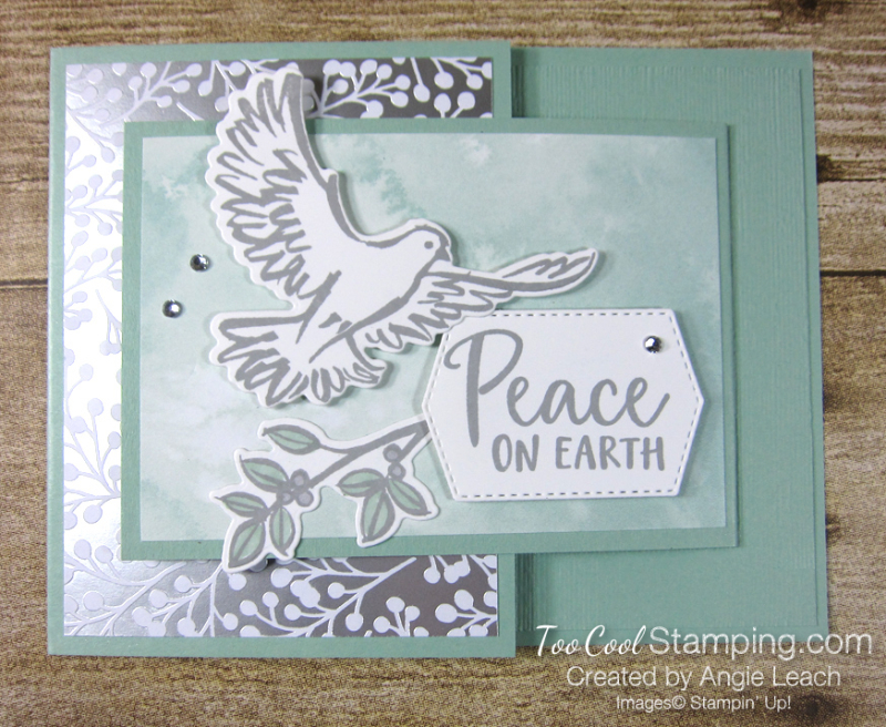 Dove of hope joy fold - mint