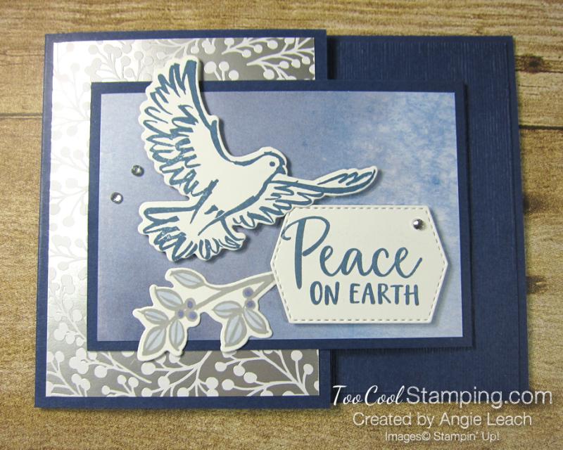 Dove of hope joy fold - navy