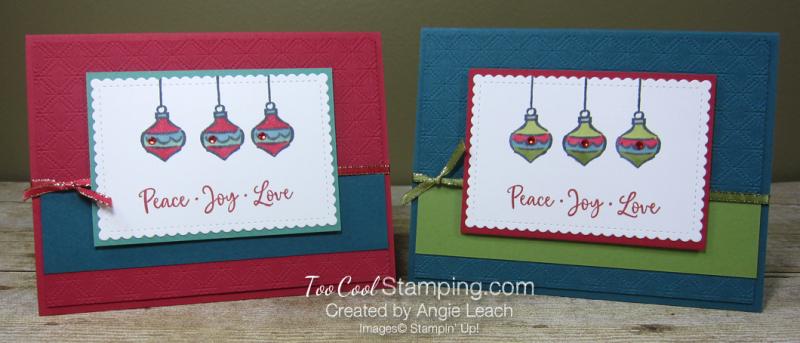 Dove of hope ornament trio - two cool
