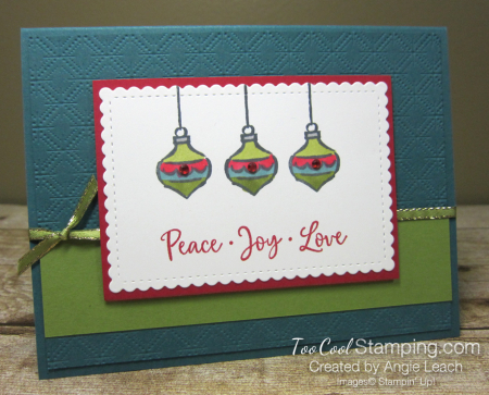 Dove of hope ornament trio - peacock