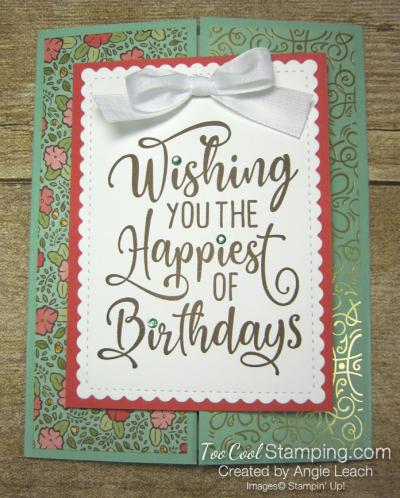 Happiest of Birthdays gate fold - mint