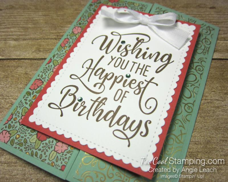 Happiest of Birthdays gate fold - mint 2