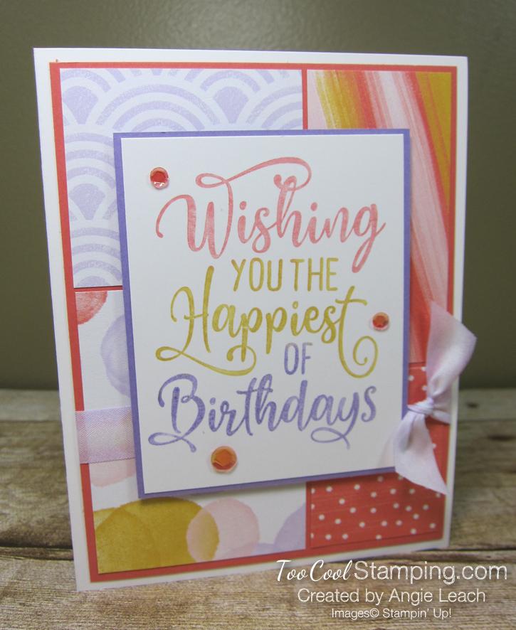 Happiest of Birthdays blocking - coral