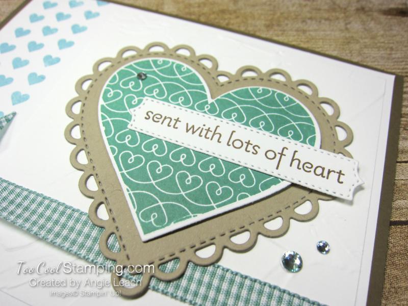 Lots of Heart mini heart border - jade 3